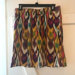 Colorful Mini Skirt with POCKETS